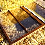 A hot frame made of straw bales